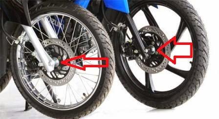 Memeriksa Keolengan Pada Roda Depan Sepeda Motor