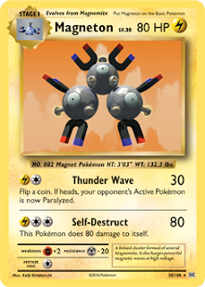Magneton Evolutions Pokemon Card