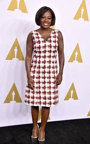 Viola Davis In Bottega Veneta At 89th Annual Academy Awards 2017