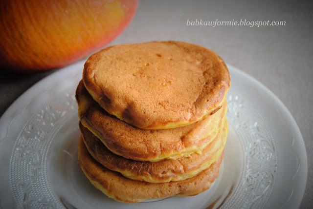 placuszki placki z dynią pancakes babkawformie.blogspot.com