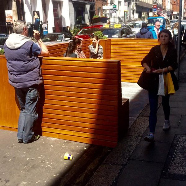 The second street parklet trial by Dublin City Council Beta