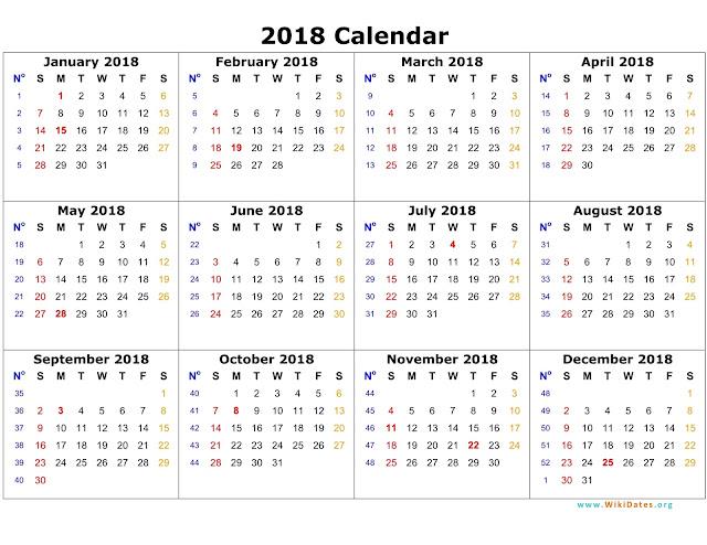 2018 Printable Calendar, 2018 Blank Calendar, 2018 Calendar Template, 2018 Calendar Printable, 2018 Calendar. Calendar 2018, Calendar, Print Calendar 2018, Calendar 2018 Templates, Templates Calendar 2018