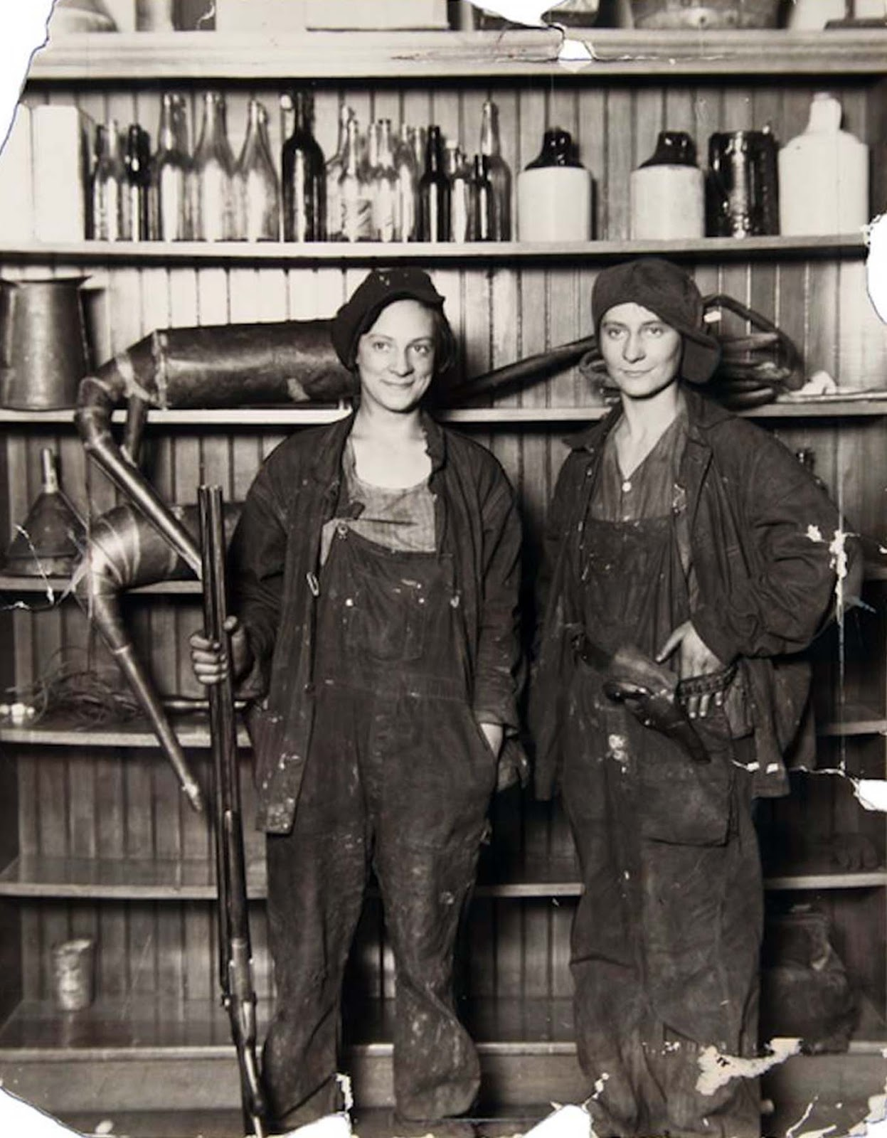 Two female bootleggers, 1921.