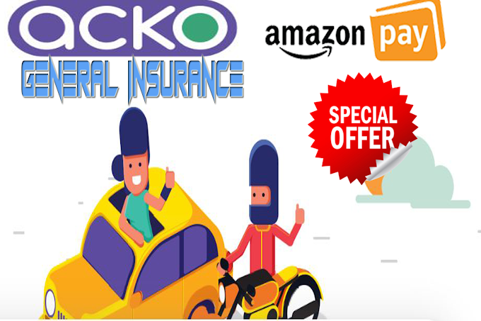Buy/Renewal Insurance Policy In Amazon get 80% cashback - Acko General Insurance