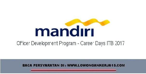Lowongan Kerja ODP Bank Mandiri Via Career Days ITB 2017