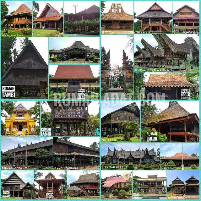Rumah Adat Pakaian Adat Tarian Tradisional Senjata Tradisional Lagu Daerah Suku Dan Julukan 34 Provinsi Di Indonesia
