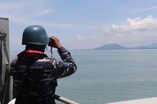 KRI Keris-624 Perketat Patroli Kapal Asing