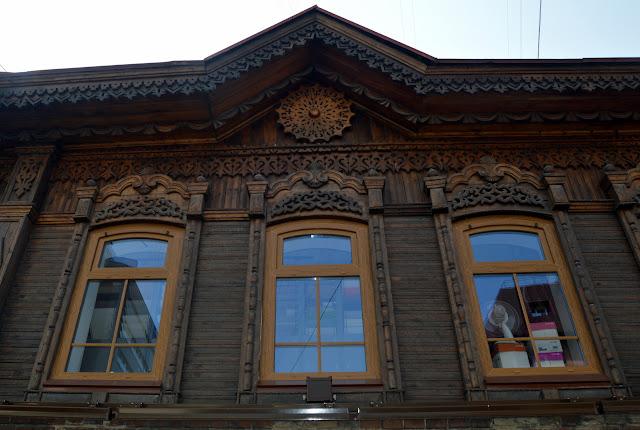 Casa típica em Irkutsk, Rússia