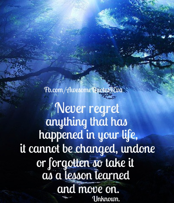 Don T Regret Anything In Life Quotes: Awesome Quotes