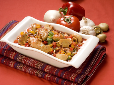 Chicken with Mushrooms Capsicum