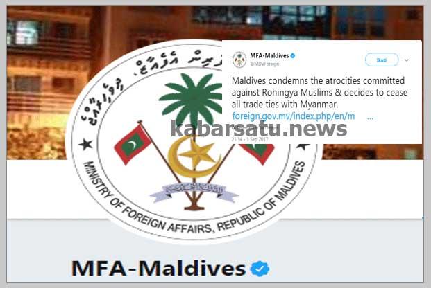 Kutuk Pembantaian Muslim Rohingya, Maladewa Putuskan Hubungan Diplomatik dengan Myanmar