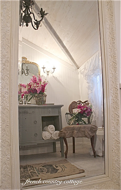 Petite Cottage Bathroom Makeover French Country Cottage