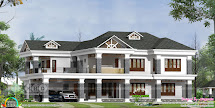 5 Bedroom Colonial Home Design - Kerala And