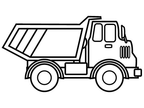 Tranh tô màu xe ô tô tải