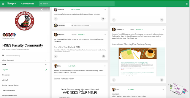 Using Google Plus Community for Staff Communication in Schools
