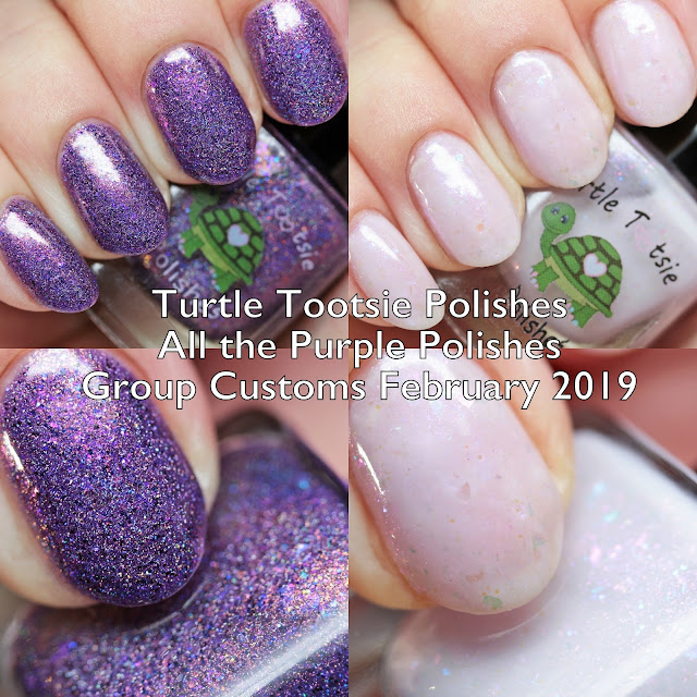 Turtle Tootsie Polishes All the Purple Polishes Group Customs February 2019