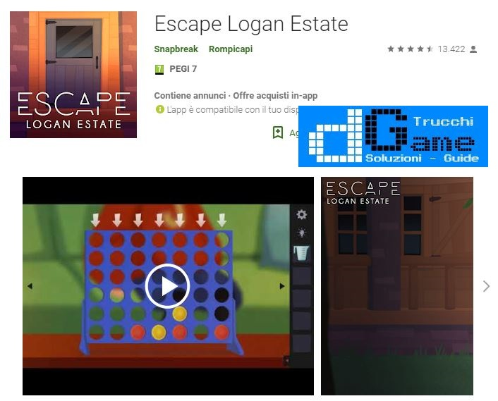 Soluzioni Escape Logan Estate tutti i capitoli  | Trucchi e Walkthrough level
