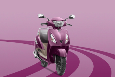 The TVS Jupiter pink colour