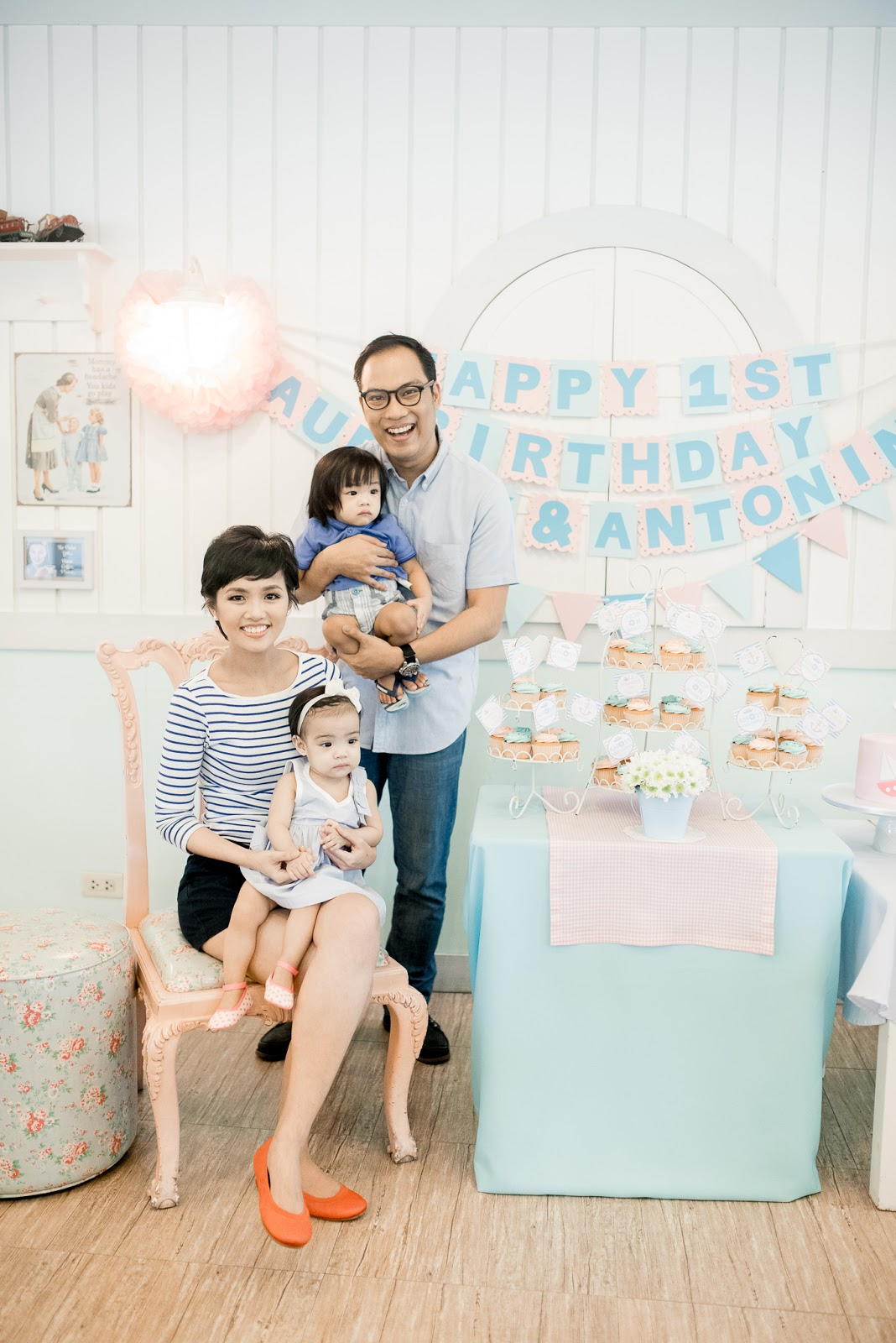 twins nautical first birthday stacys