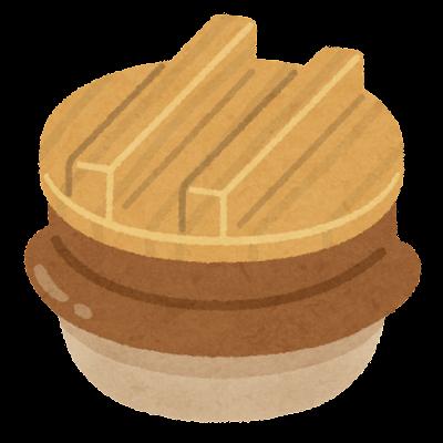 釜飯の釜のイラスト