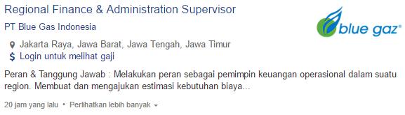 Lowongan Kerja PT Blue Gas Indonesia Terbaru 2019