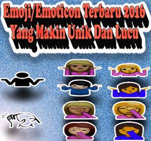Resmi Dirilis, Inilah Emoji/Emoticon Terbaru 2016 Yang Makin Unik Dan Lucu