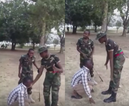 nigerian army cadets beating man lagos