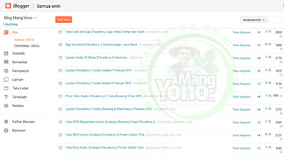 Blogger Update Tampilan Dashboard Baru