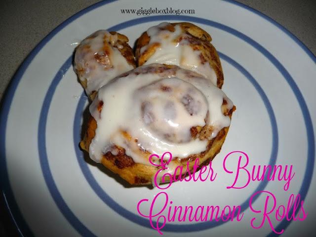 Easter bunny cinnamon rolls, simple Easter morning breakfast with cinnamon rolls,