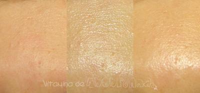 comparativo da pele com Suncut UV Protect Essence SPF50+ PA++++