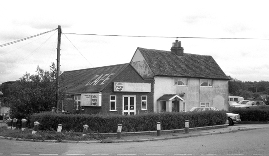 Photograph of Water End Cafe, Warrengate Road 1983 The building of the A1(M) affected its trade