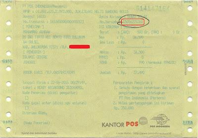 nomor resi pengiriman kantor pos