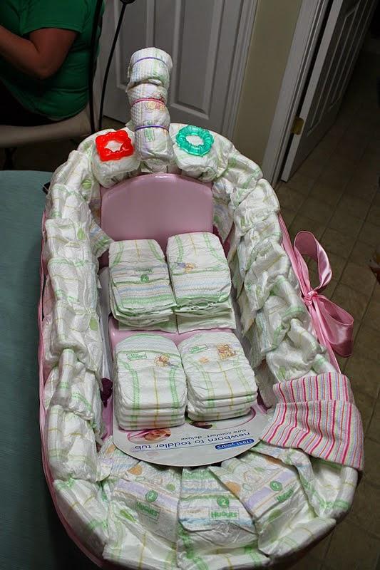 Diy Baby Bath Tub Diaper Cake The Idea King