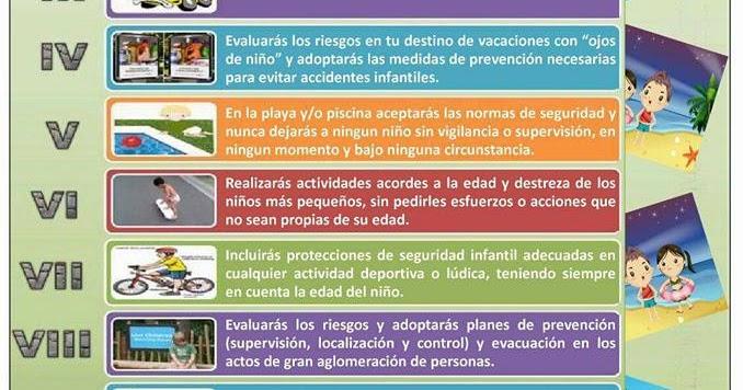 7c2182c8d AVALCAE: LOS DIEZ MANDAMIENTOS PARA ESTAR SEGUROS LOS NIÑOS EN VACACIONES