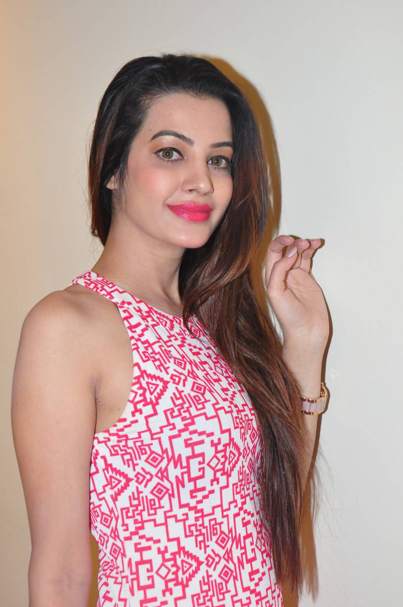 Tollywood Actress Diksha Panth Stills In Pink Dress