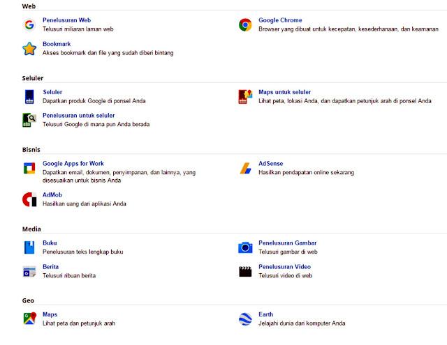 Apa Saja Sih Produk Google Itu?