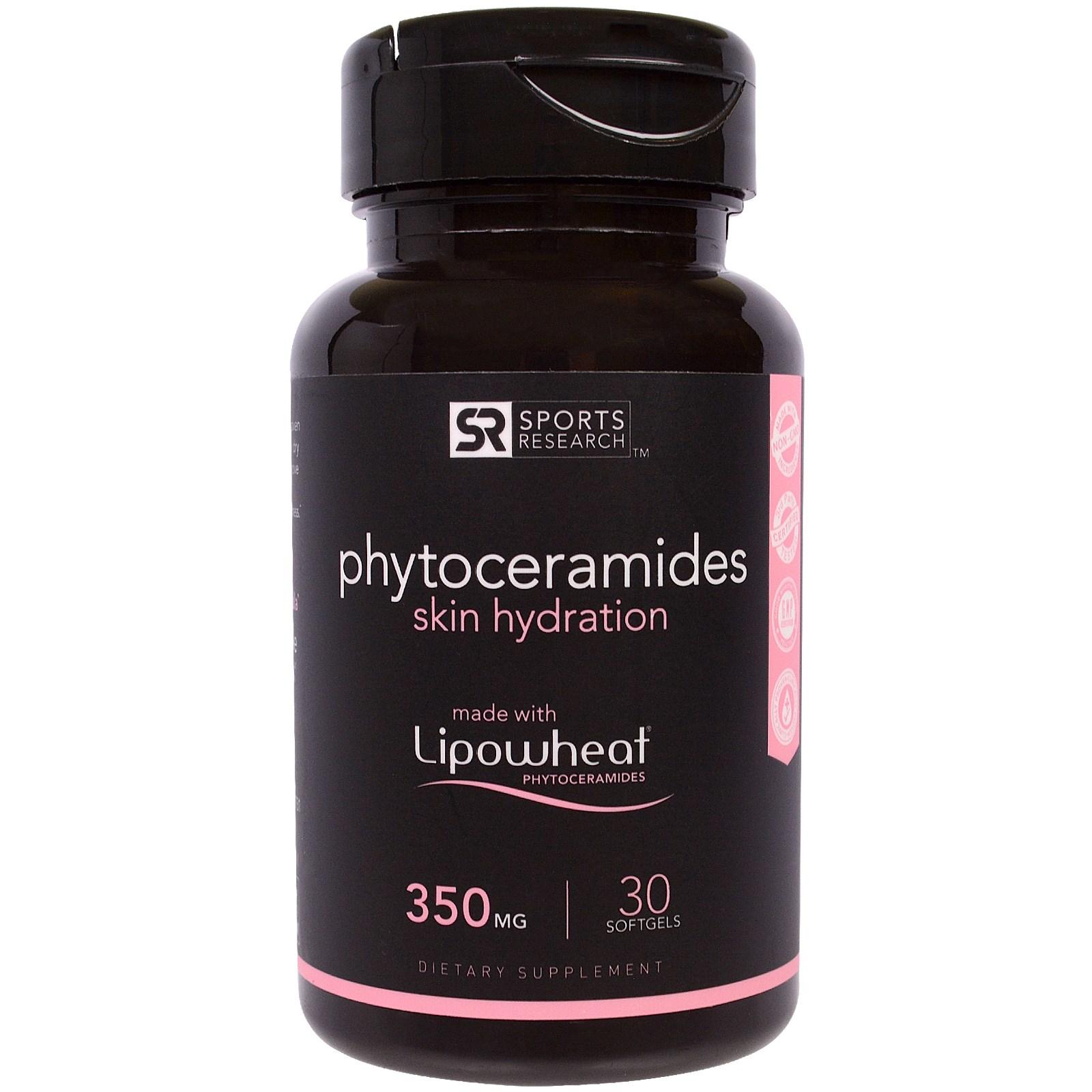 Sports Research, фитокерамиды для увлажнения кожи, 350 мг, 30 капсул