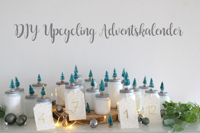 DIY Adventskalender Upcycling Winterwald Jules kleines Freudenhaus