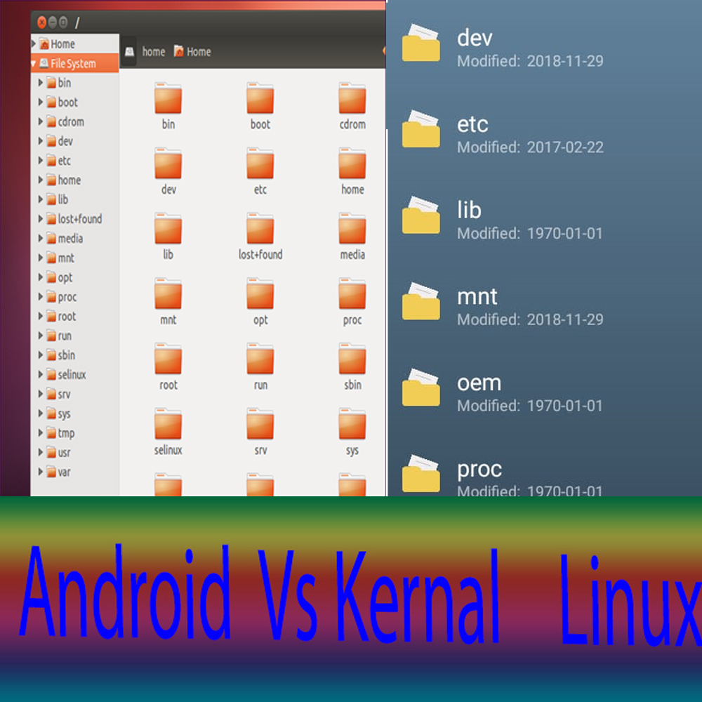 android and linux file structure - Allvsall