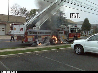 funny fail fire engine on fire