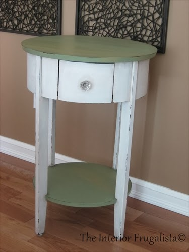 Box Store Table painted with milk paint