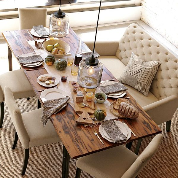 Bench Dining Room Table: Header: Settees And Dining Tables