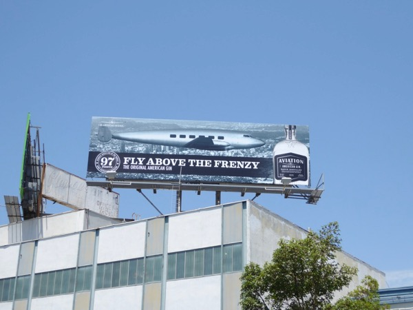 Aviation Gin airplane billboard Beverly Boulevard