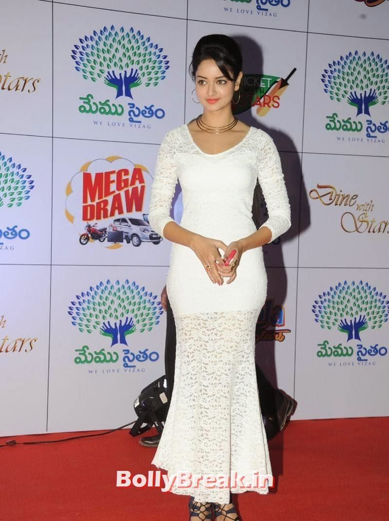 Actress Shanvi Unseen Stills, Actress Shanvi Hot Sexy Pics in White Dress