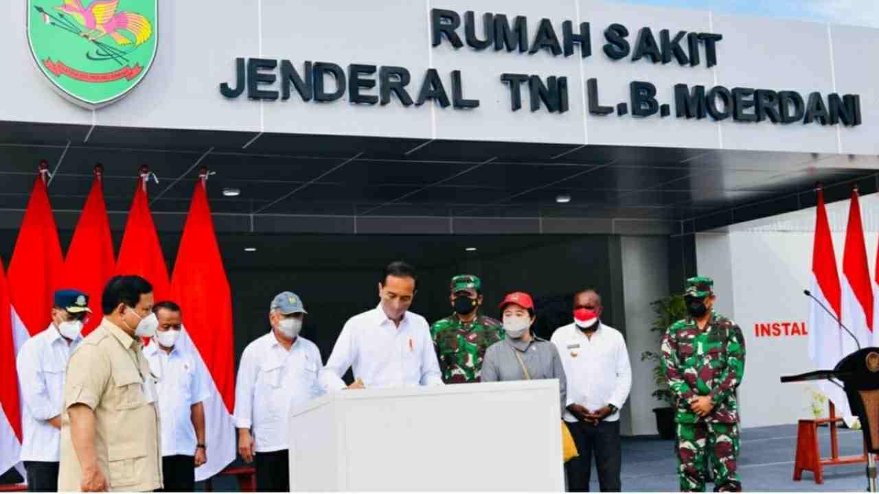 Presiden Resmikan Rumah Sakit Modular Jenderal TNI L.B. Moerdani di Merauke