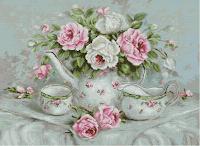 """Luca-S BA2317 """"Set de ceai cu trandafiri"""""""