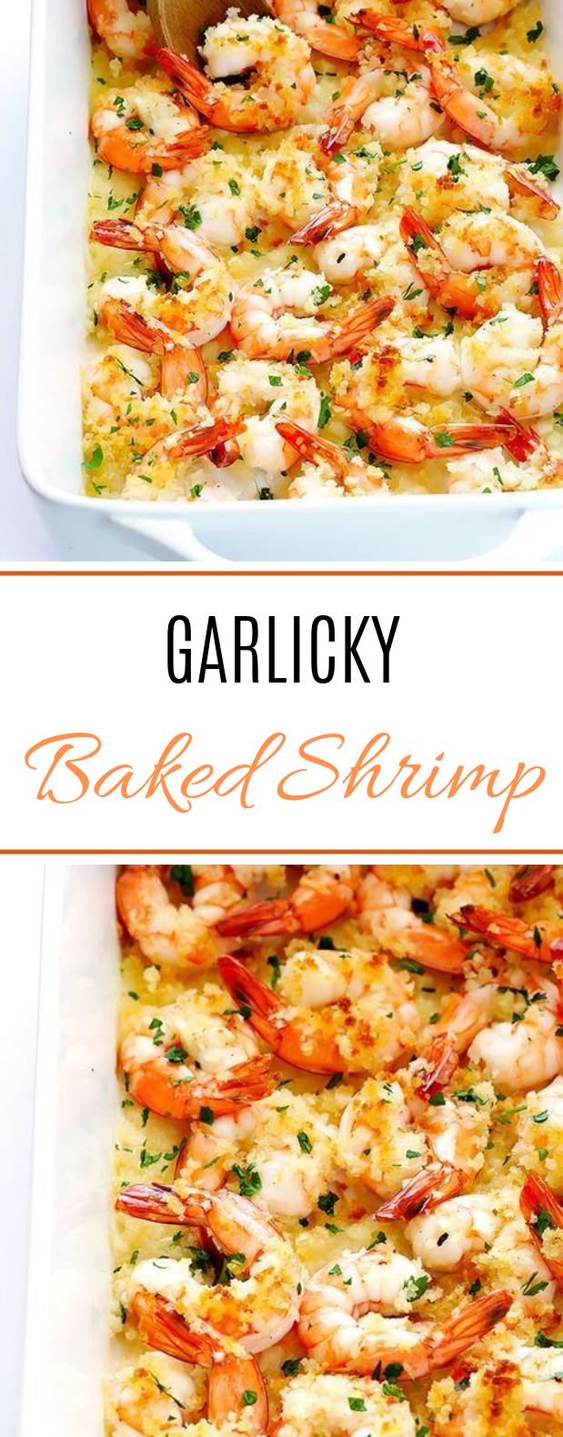 Garlicky Baked Shrimp #delicious #seafood