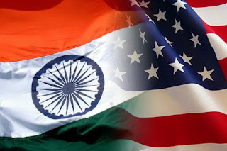 india and us flag together