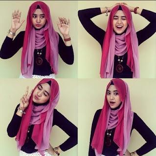 Contoh model hijab santai