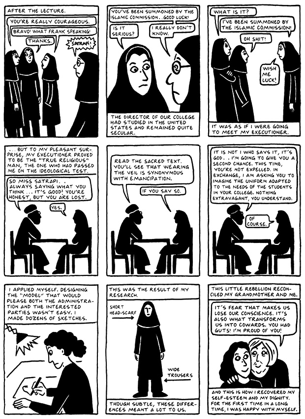 Read Chapter 15 - The Convocation, page 144, from Marjane Satrapi's Persepolis 2 - The Story of a Return
